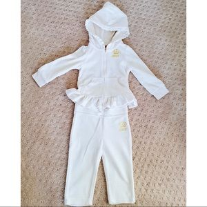 Juicy couture white baby girls set 12M